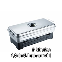 XL Camping Räucherofen inkl. 1000 g Räuchermehl
